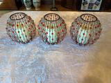1- (3) Retro Pillar Candle Holders