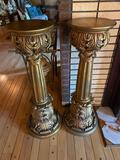 1- Pair of Gold Pedestals