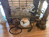 2- Metal, Glass Serving Cart