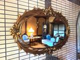 2- Wood Framed Mirror