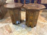 4- Pair of Inlayed Wood Tables