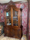 Z- 5- Dark Finish Wood China Cabinet