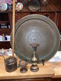 9- Arabic Brass Platter and Accessories