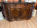 Z-11- Drexel Heritage Marble Top Wood Buffet