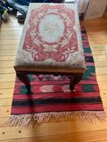 13- Needlepoint Bench with Rug