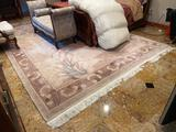 15- Wool Carved Tufted Area Rug