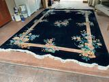 G- Large Wool Carved Tufted Area Rug