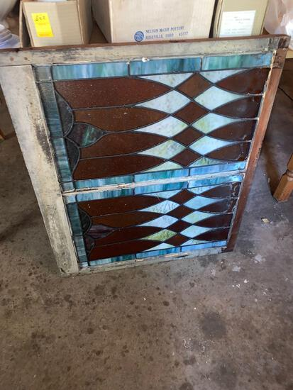 G- Large Pane of Stained Glass