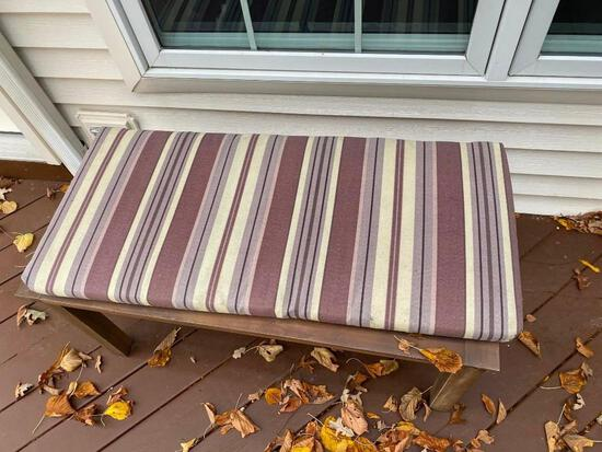 Outdoor Bench with Cushion