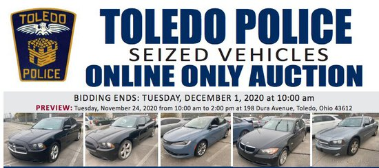 Toledo Police Online Seized Vehicle Auction