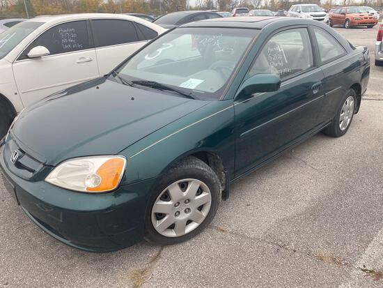 2001 Dark Green Honda Civic