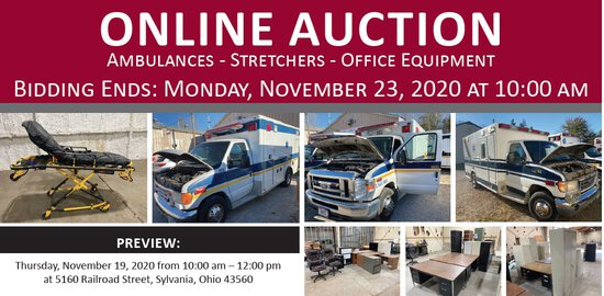 Mobile Care EMS Online Only Auction