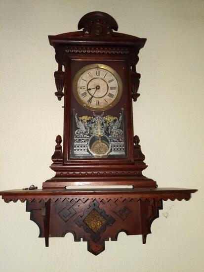 P- Antique Mantle Clock