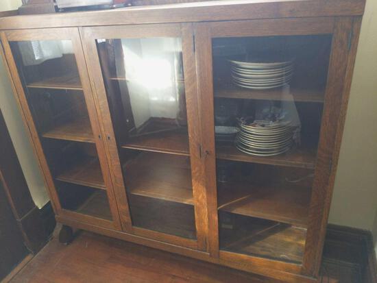 F- Antique Solid Oak Cabinet