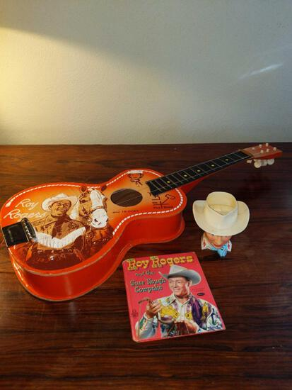 LR- Lot of Roy Rogers Book, Cup, Guitar