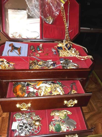 Jewelry Box with Estate Jewelry