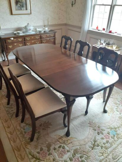 DR- Dining Room Table (6) Cushioned Chairs