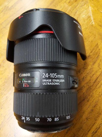 B- Canon EF 24-105mm