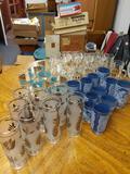 B- Lot of Assorted Glasses