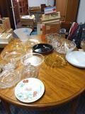 B- Large Lot of Miscellaneous Decorative Glassware