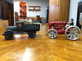 B- Cast Iron Tractor and Cast Iron Truck