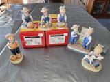 G- (6) Denim Dayz (2) Peanuts Figurines