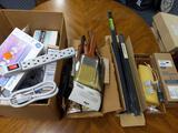 B- Paint Brushes, Picture Frame Kit, Light Bulbs