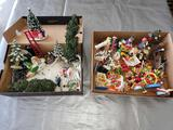 G- Large Lot of Christmas Figurines and Grinch figurines
