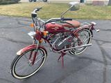 P- Red Whizzer Motorbike