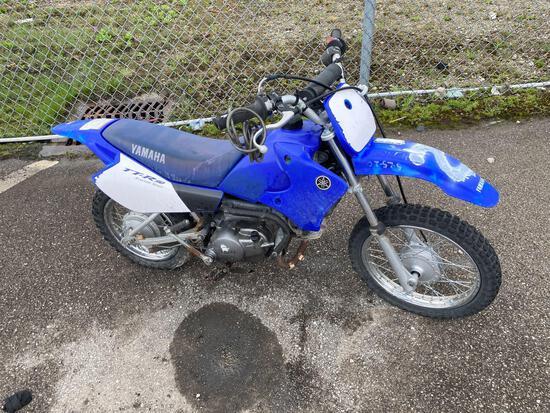 2005 Blue Yamaha TTR90 Motorcycle