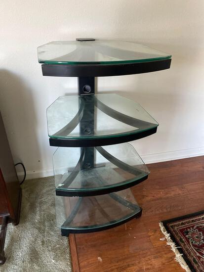 LR- Glass 4 Shelf Stereo Stand