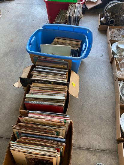 G- Lot of (6) Boxes of Records