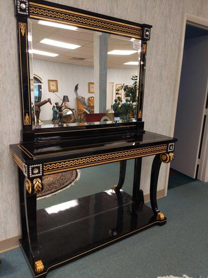 R1- Black Mirrored Entryway Table
