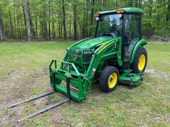 OUT- John Deere 3033R with H165 Fork Lift Attachment