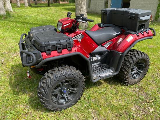Out- 2011 Polaris Sportsman Twin Sportsman 850cc XP LE EFI ATV 15.8 Hours
