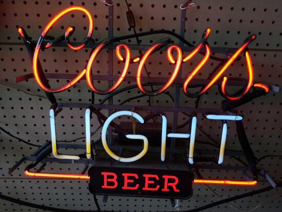 G- Coors Light Neon Sign