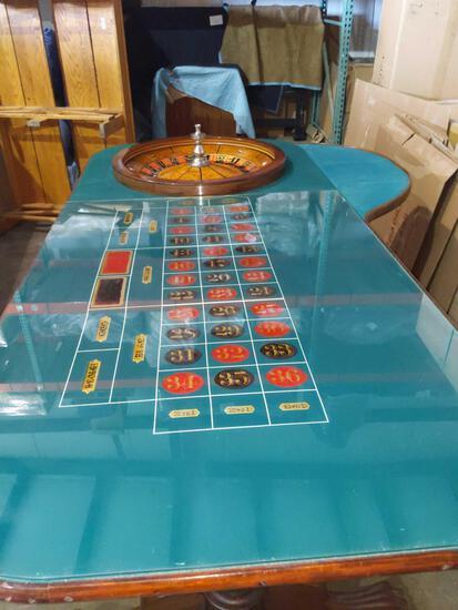 S- Ace Sport Wks, Inc. Reguation Size Roulette Table