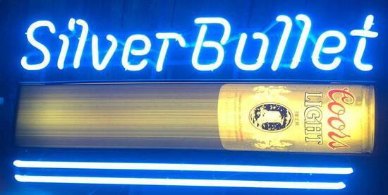 Base- Silver Bullet Neon Sign