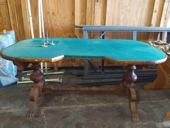 S- Antique Solid Wood Poker Table