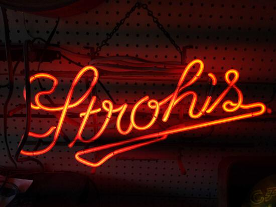 G- Strohs Neon Sign