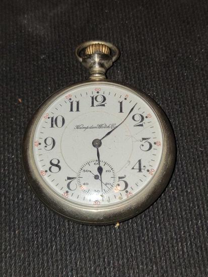 FR- Hampden Watch Company - ORE Silver, 17 Jewels