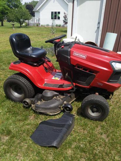 "G2- Craftsman 48"" Cut Riding Lawnmower."