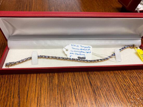 8.75 Ct. Tanzanite Tennis Bracelet