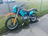 2009 Light Blue/Orange American Lifan LF200-B / LF200GY-5 Motorcycle