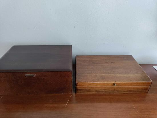G1- Lot of (2) Silverware Boxes