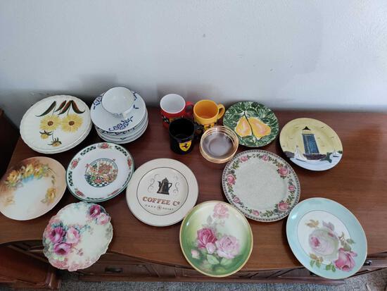 G1- Lot of Plates, Ferrari Mugs and Miscellaneous Kitchen Items