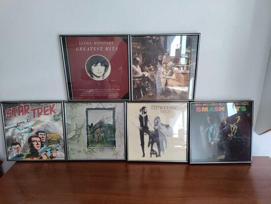G1- (6) Framed Record Albums