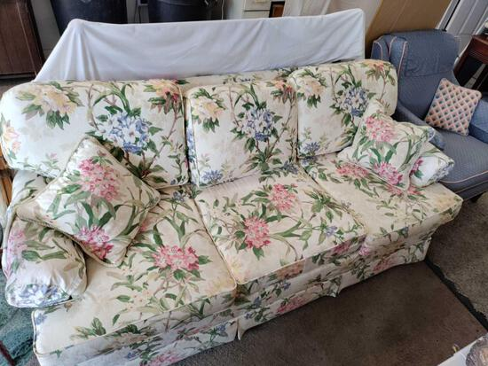 G2- Upholstered Floral Queen Sleeper Sofa