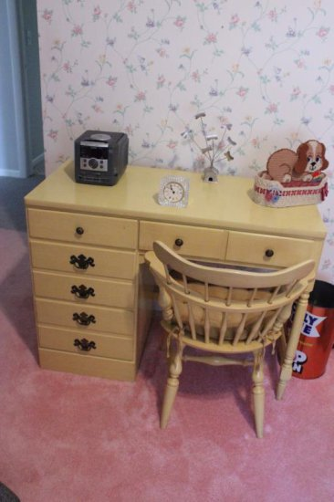 Yellow Desk With Chair