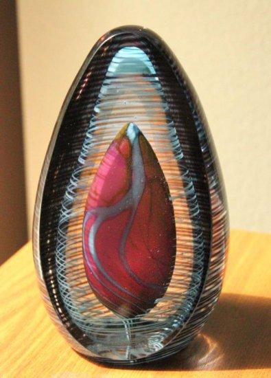 1997 Hal David Berger Heart Themed Glass Art